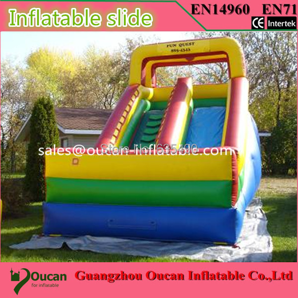 Inflatable Large PVC Inflatable Slide Water Park Slip N Slide Commercial Jumping Castle commercial inflatable water slide with pool made of pvc tarpaulin from guangzhou inflatable manufacturer