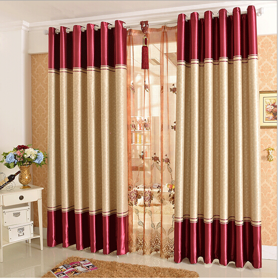 Shading Curtains Jacquard Luxury Living Room Curtains Kitchen