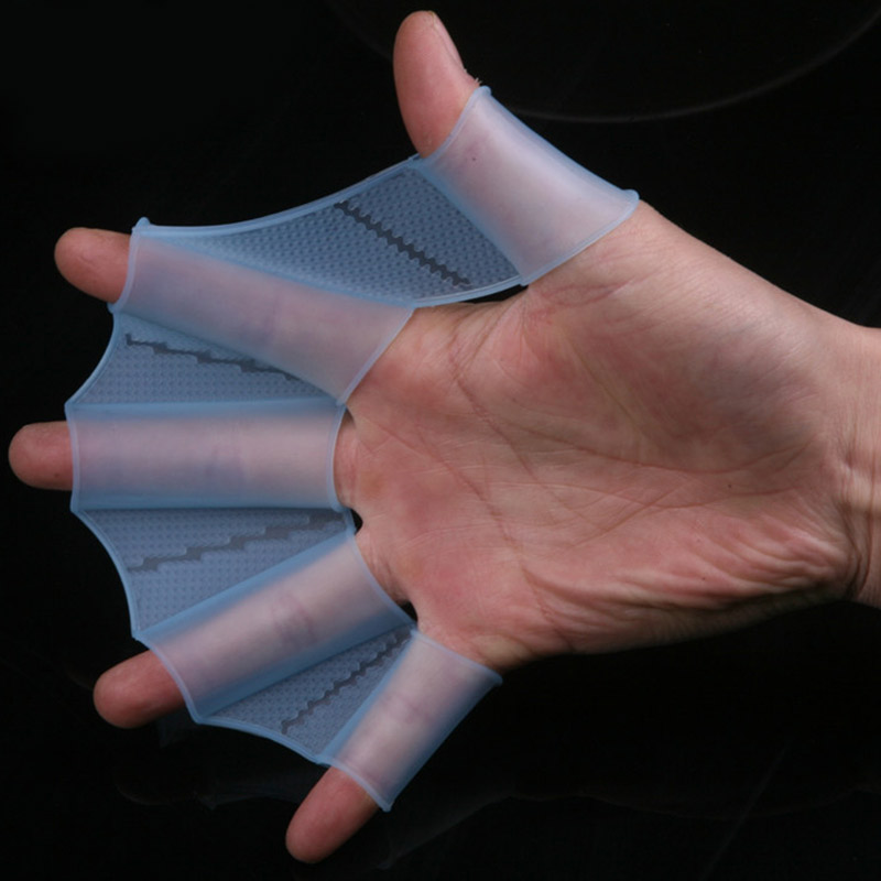 Silicone Material Swimming Fins For Hands Sailor Webbed  Flying Fish Webbed Gloves Flippers