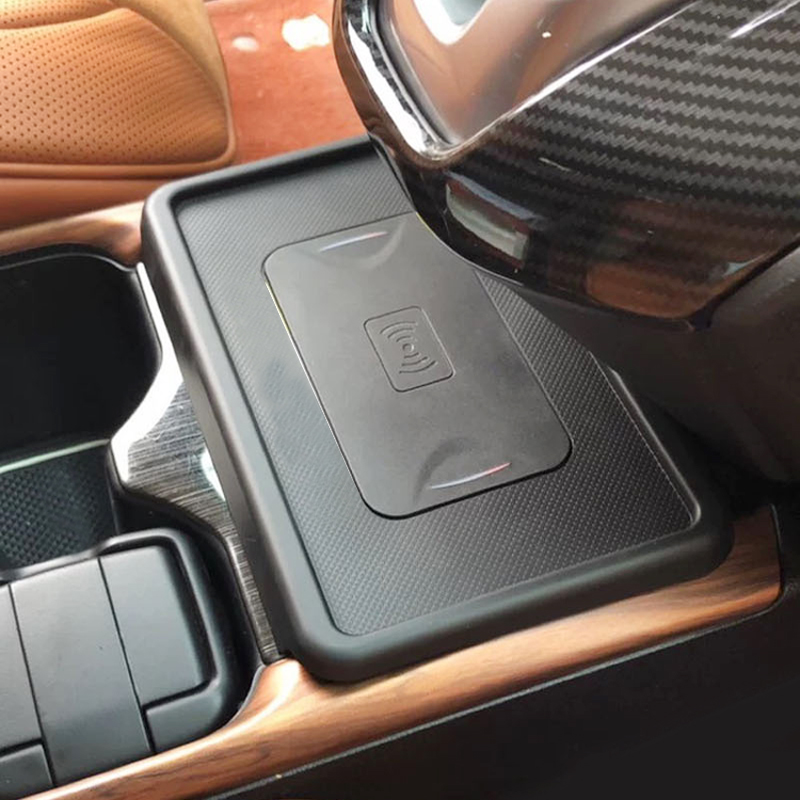 Car QI wireless charger module for Honda <font><b>CRV</b></font> 2017 <font><b>2018</b></font> fast charging plate panel center console charging case <font><b>accessories</b></font> image