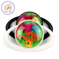 TOEPAK 3D Classic Magic Maze Ball Toy Tntellect Ball Balance Puzzle Game Magnetic Balls IQ Logic