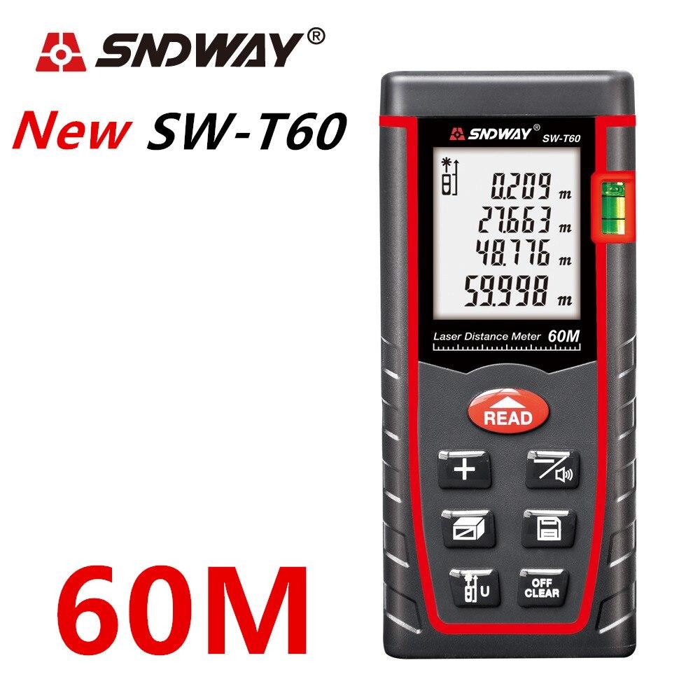 Image 4 - SNDWAY laser rangefinder distance meter 120M 100M 80M 60M 40M laser tape range finder build measure digital ruler trena roulette-in Laser Rangefinders from Tools