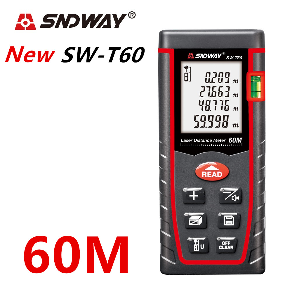 SNDWAY Laser Distance Meter 40-120M with LCD and Auto Power Off to Measure Wide Range Area 4