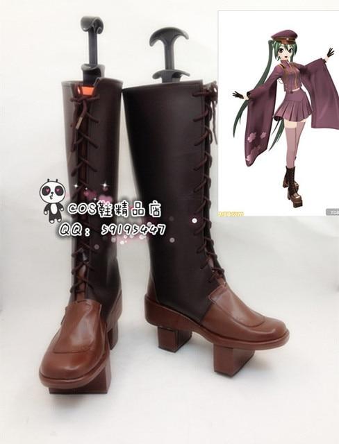 Vocaloid Miku Senbon Sakura KAITO Senbonzakura Cosplay Costume Boots Bota Zapatos