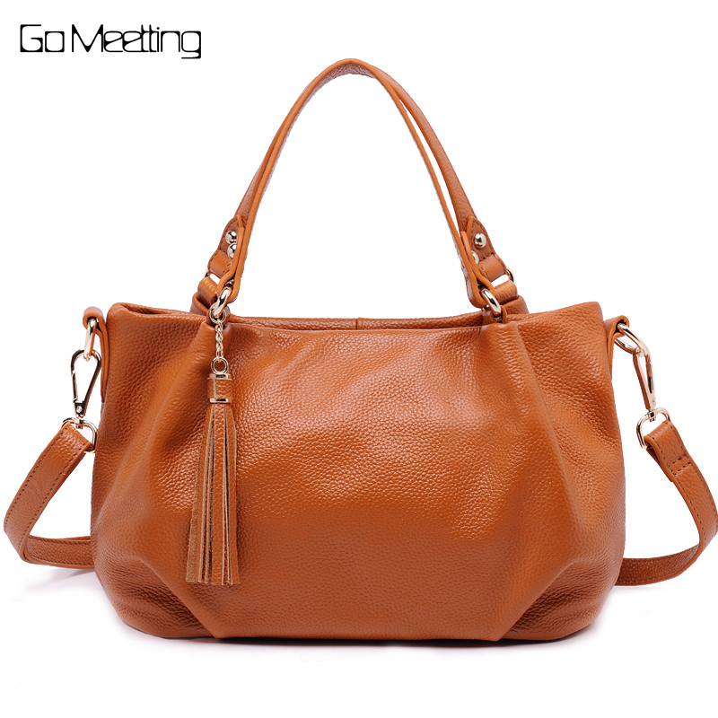 Go Meetting Genuine Leather Women Shoulder Bag High Quality Ladies Handbags Crossbody Messenger Bags bolsa feminina sac a main famous brand women leather handbags ladies messenger bags female shoulder crossbody bag bolsa feminina sac a main