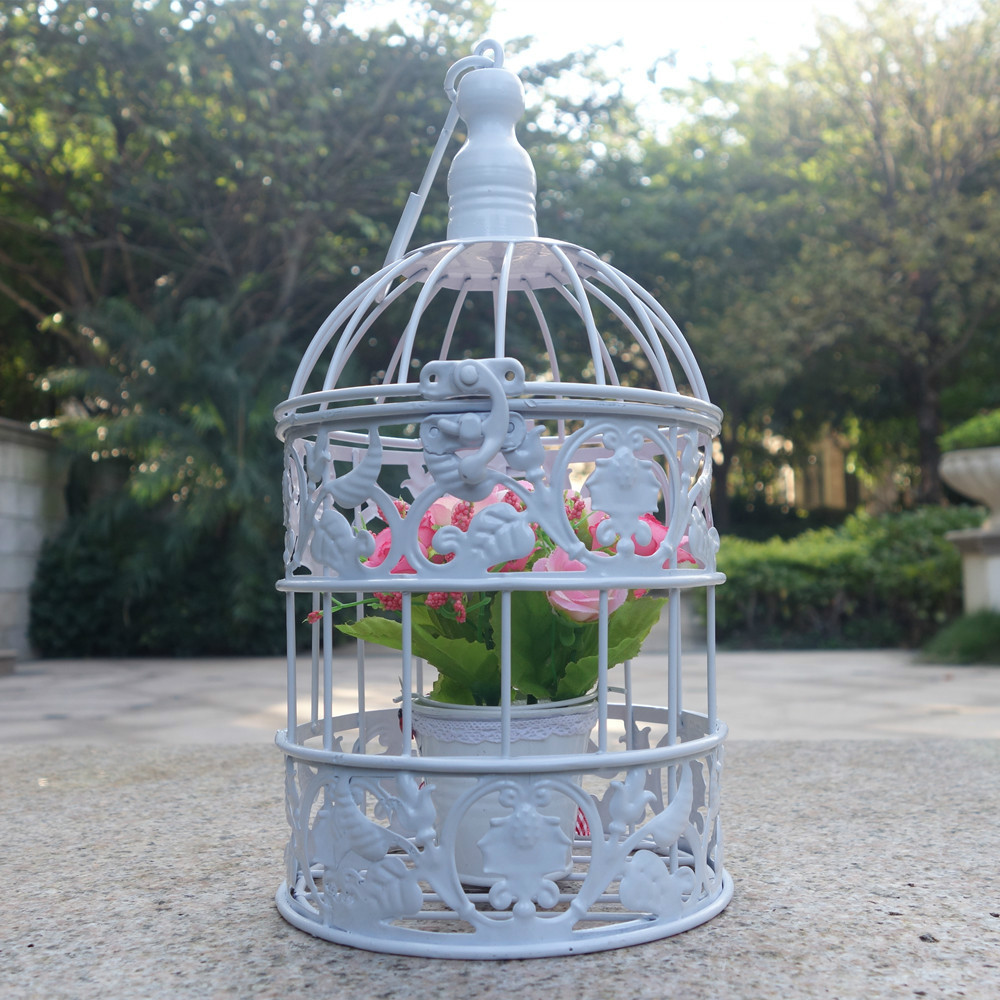 Small Metal Bird Cage Vintage Iron Antique White Decorative Wedding  Birdcage In Bird Cages U0026 Nests From Home U0026 Garden On Aliexpress.com |  Alibaba Group