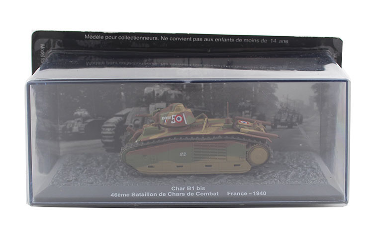IXO 1/72 Char B1 bis World War II French army heavy tank model Alloy collection model Ho ...