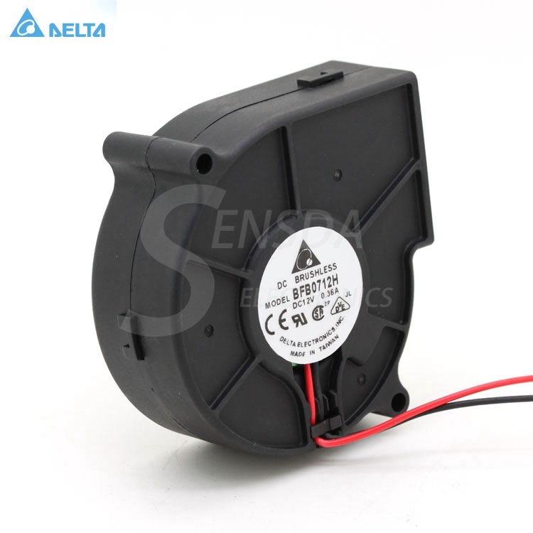Free Shipping for delta BFB0712H 7530 DC 12V 0.36A projector blower centrifugal fan cooling fan 1
