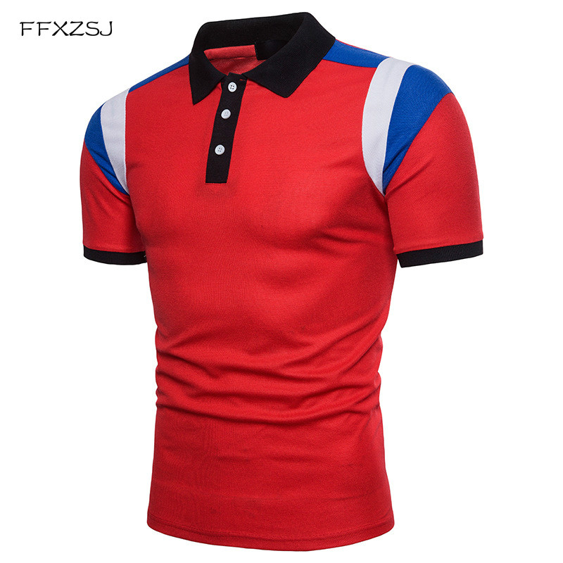 2018 Hot sales Men's   Polo   Shirts Tops Tees fashion Style Summer Striped brand short sleeve   polo   shirt Men Casual   Polo   Shirt