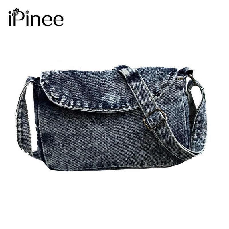 e593f4316612 iPinee Vintage Crossbody Bags For Women Casual Denim Flap Female Small  Women s Shoulder Bags Ladies Shopping