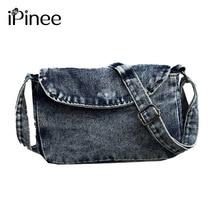 Crossbody-Bags Small Vintage Female Casual Women Ladies Ipinee Flap Denim for Sac Main