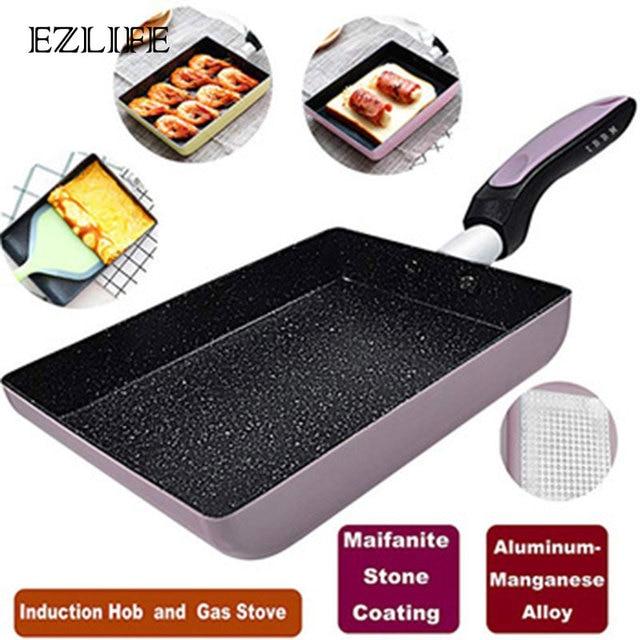 ezlife non stick omelette pan japanese non stick coating rectangle