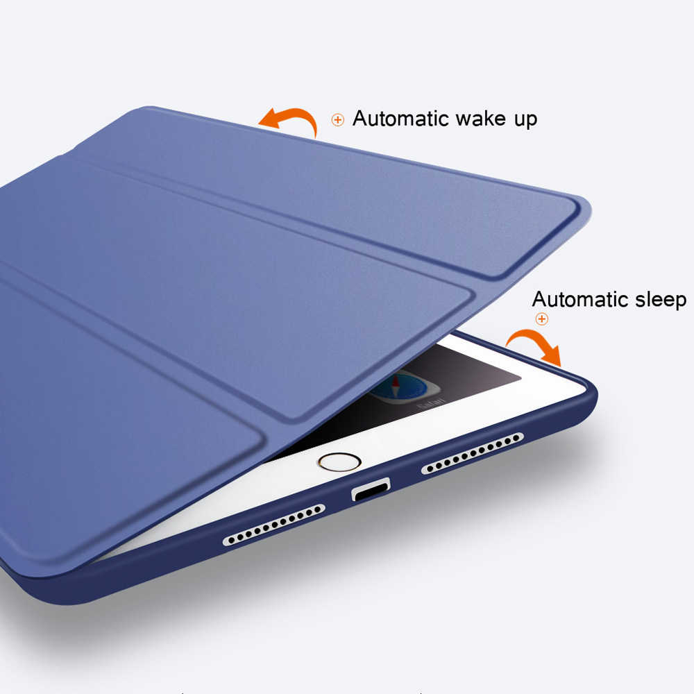 Smart Case untuk Apple Baru iPad 9.7 2018/2017 Cover untuk iPad 5 6 AIR 1 2 3 2019 /Saya Pad Pro 10.5 Ultra Slim Case Penutup Kulit PU