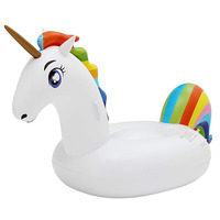 200cm Giant Unicorn Pool Float Inflatable Swimming Air Matteress Summer Water Toys Floating Ring Family Party Decoration