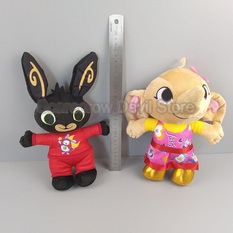 Bing coelho coelho boneca de brinquedo de pelúcia brinquedos de pelúcia animal dos desenhos animados bonecos macios brinquedos para as crianças presentes NO REINO UNIDO anime animação r084 nenhuma caixa