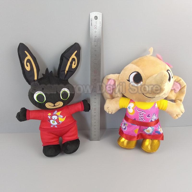 Del fumetto bing peluche sula coniglio giocattolo bambola giocattoli farciti elefante coniglio animale morbido bing di amici per i regali dei bambini del REGNO UNITO no box