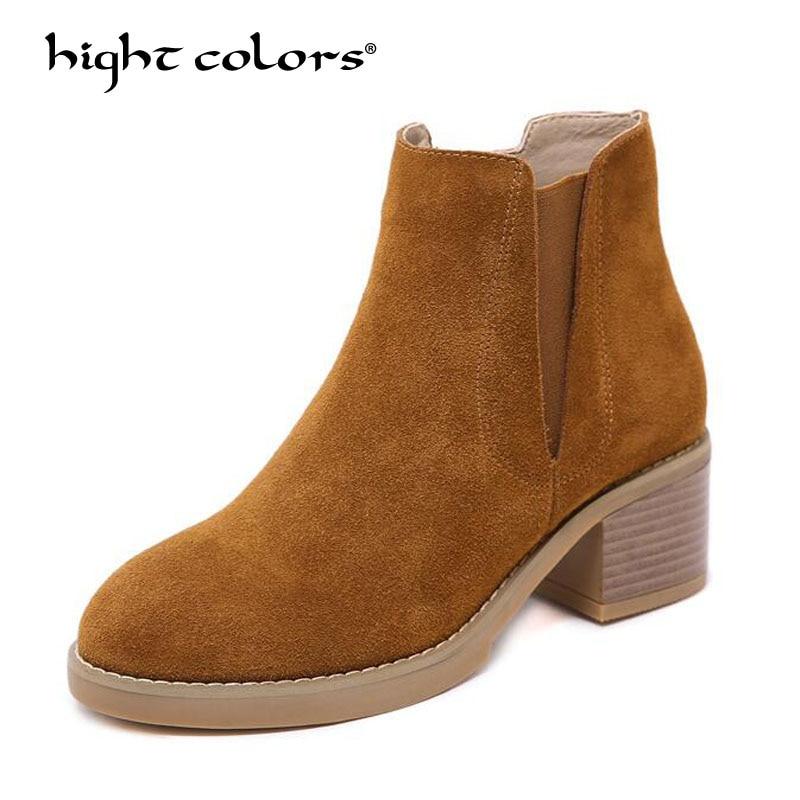 Chaussures Noir Faible Kaki En On Plate Split De Brun Femme Style Talon 2019 Bottines brown Slip forme Black Décontracté Confortable Mode khaki Cuir Femmes 5q3jARL4