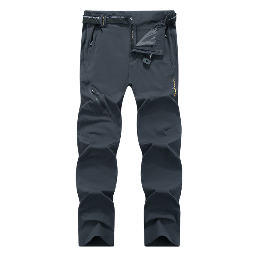 Image 4 - Mountainskin 8XL Men's Summer Quick Dry Softshell Pants Outdoor Elastic Camping Hiking Trekking Fishing Climbing Trousers MA138-in Hiking Pants from Sports & Entertainment