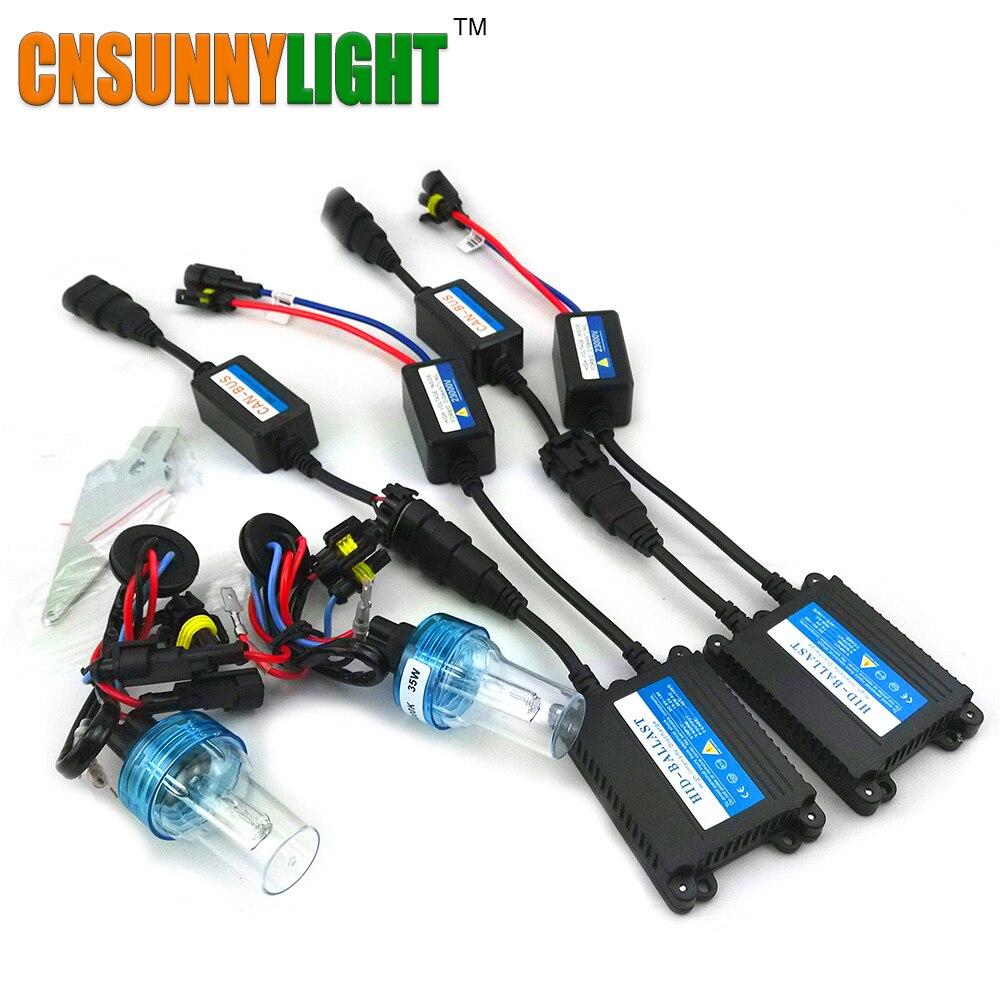 CNSUNNYLIGHT Super Mince Haute Qualité Canbus 35 W Xenon HID Kit H1 H3 H7 H8 H10 H11 9005 9006 880 Avertissement Voiture D'erreur Livraison avec EMC