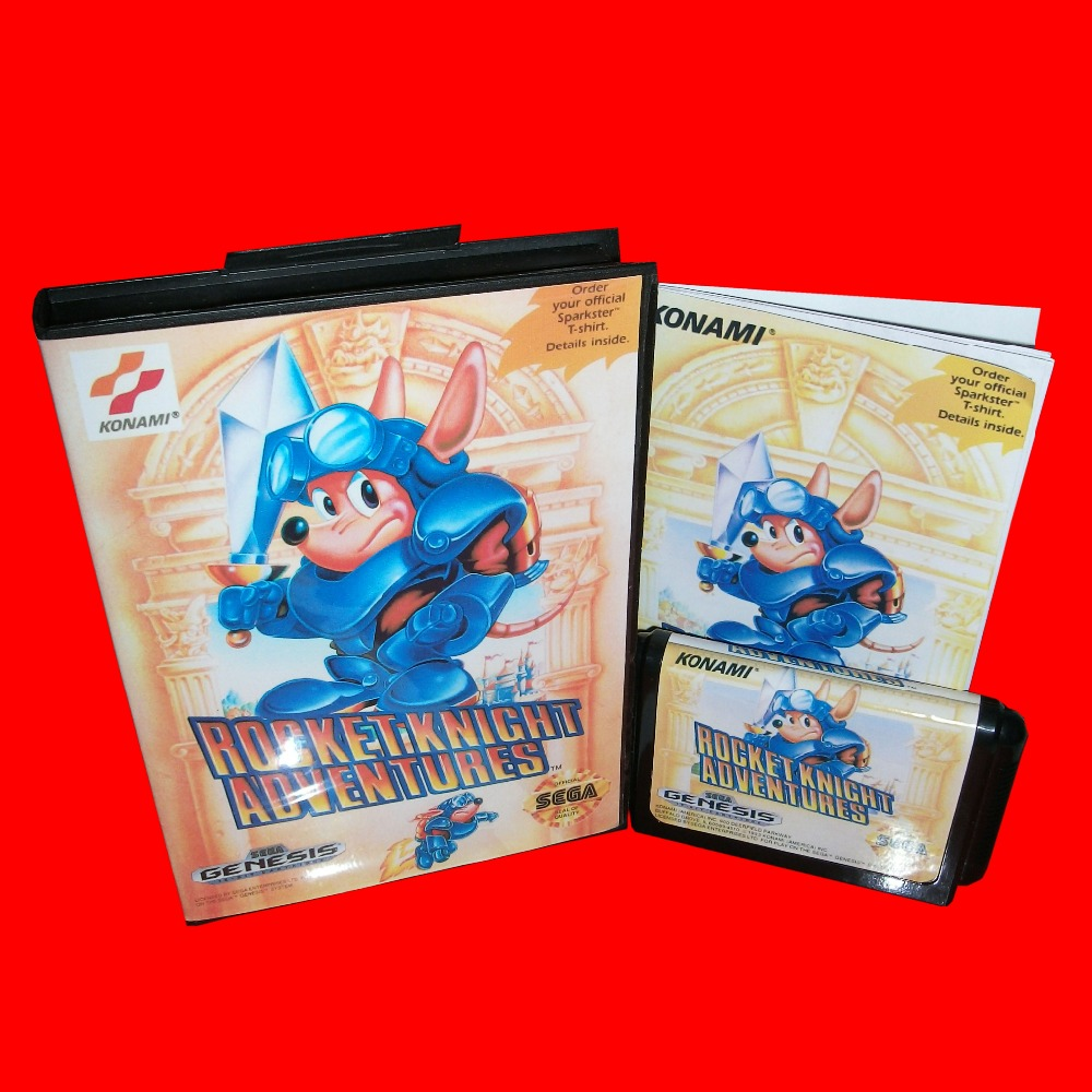 Rocket Knight Adventures With Box And Manual 16bit MD Game Card For Sega Mega Drive For Genesis