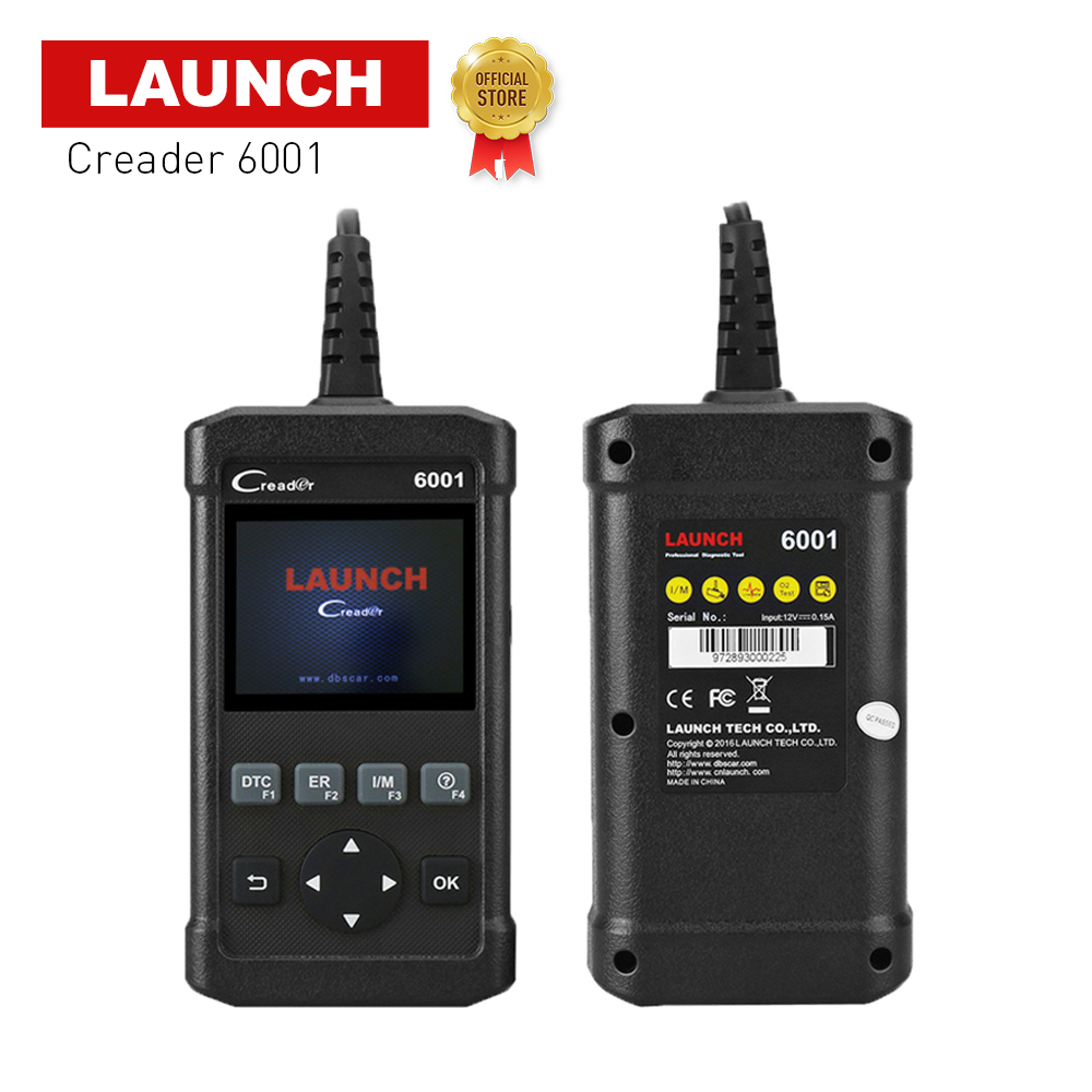 LAUNCH full OBD2/EOBD Code Reader Scanner CReader 6001 2.8 inch support Read&Clear DTCs prints data via PC lifetime free update запустите creader vi obd2 obdii eobd code reader multi языки обновления на сайте