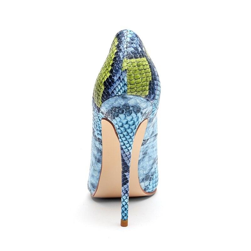 Mujeres Primavera yellow Moda Sexy Nueva Zapatos Bombas Blue Punta pink Altos Plus Colores De 2019 Tacones Mezclados Parte La Los Zvq Las Superficial Tamaño wtWqXngwA