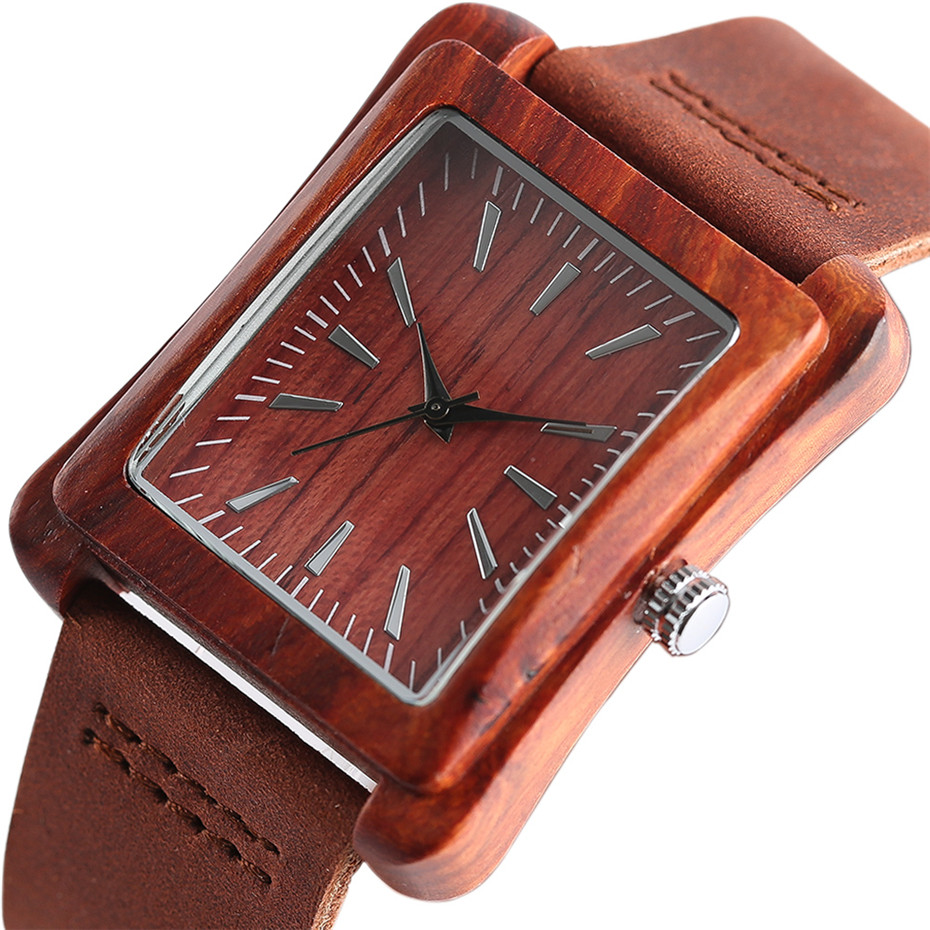 genuine leather band nature wood watch03