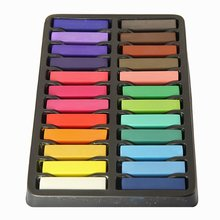 Best Sale Non-Toxic Hair Chalk Temporary Hair Dye Color's Soft Pastels Salon Hair Color Set Kit (24 PCS)