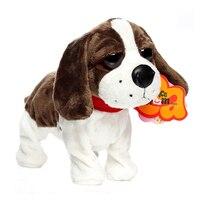 電子ペットサウンド制御ロボット犬樹皮スタンド歩くかわいいインタラクティブ犬電子ハスキープードルペキニーズおもちゃ子供のた