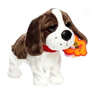 Image 1 - الحيوانات الأليفة الإلكترونية التحكم الصوتي روبوت الكلاب النباح الوقوف المشي لطيف التفاعلية لعب الكلب الإلكترونية أجش Pekingese لعب للأطفال