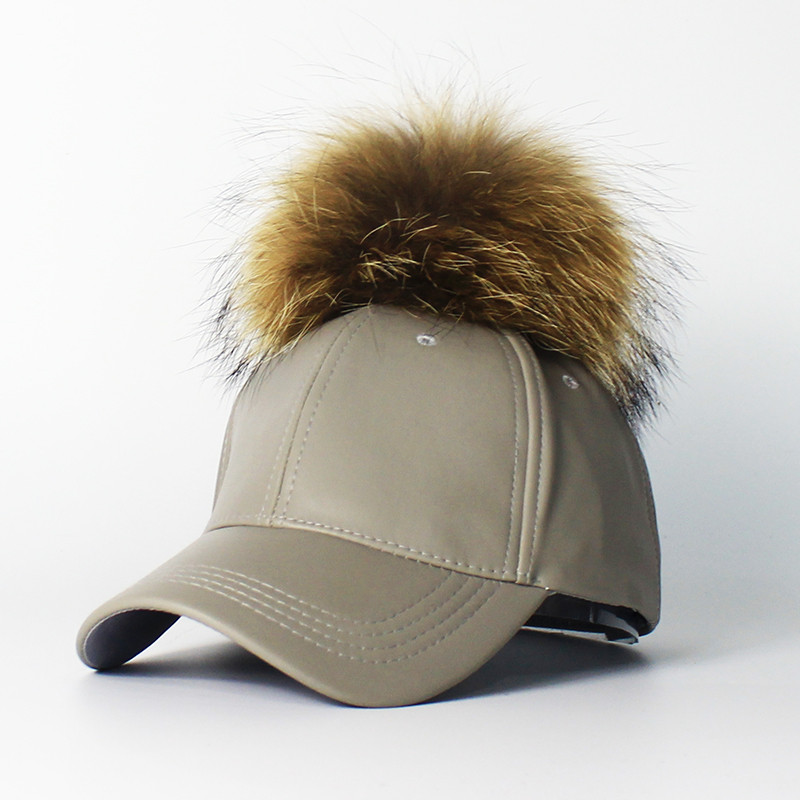 2016-Hot-Sale-Women-s-Winter-Hat-PU-Leather-Pom-Pom-Cap-Leather-Hat-With-Fur (1)