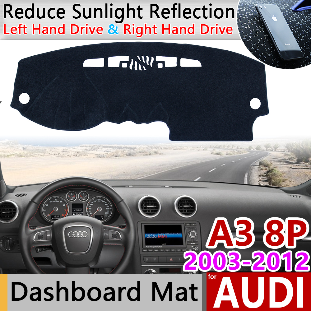 for <font><b>Audi</b></font> <font><b>A3</b></font> 8P 2003~2012 Anti-Slip Mat Dashboard Cover Pad Sunshade Dashmat Protect Car Carpet <font><b>Accessories</b></font> S-line 2004 <font><b>2006</b></font> 2011 image