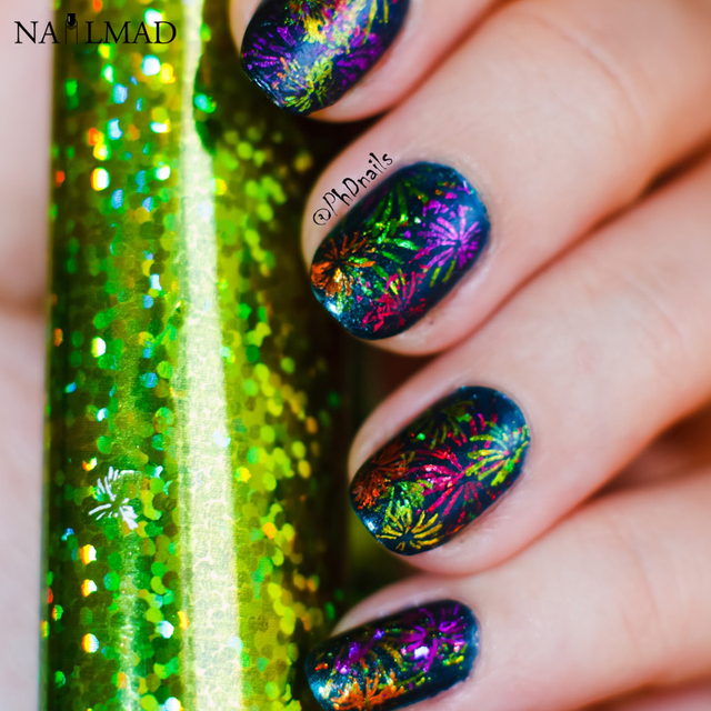 1 roll 4*100cm Holographic Nail Foils Fantasy Starry Glitter Nail ...