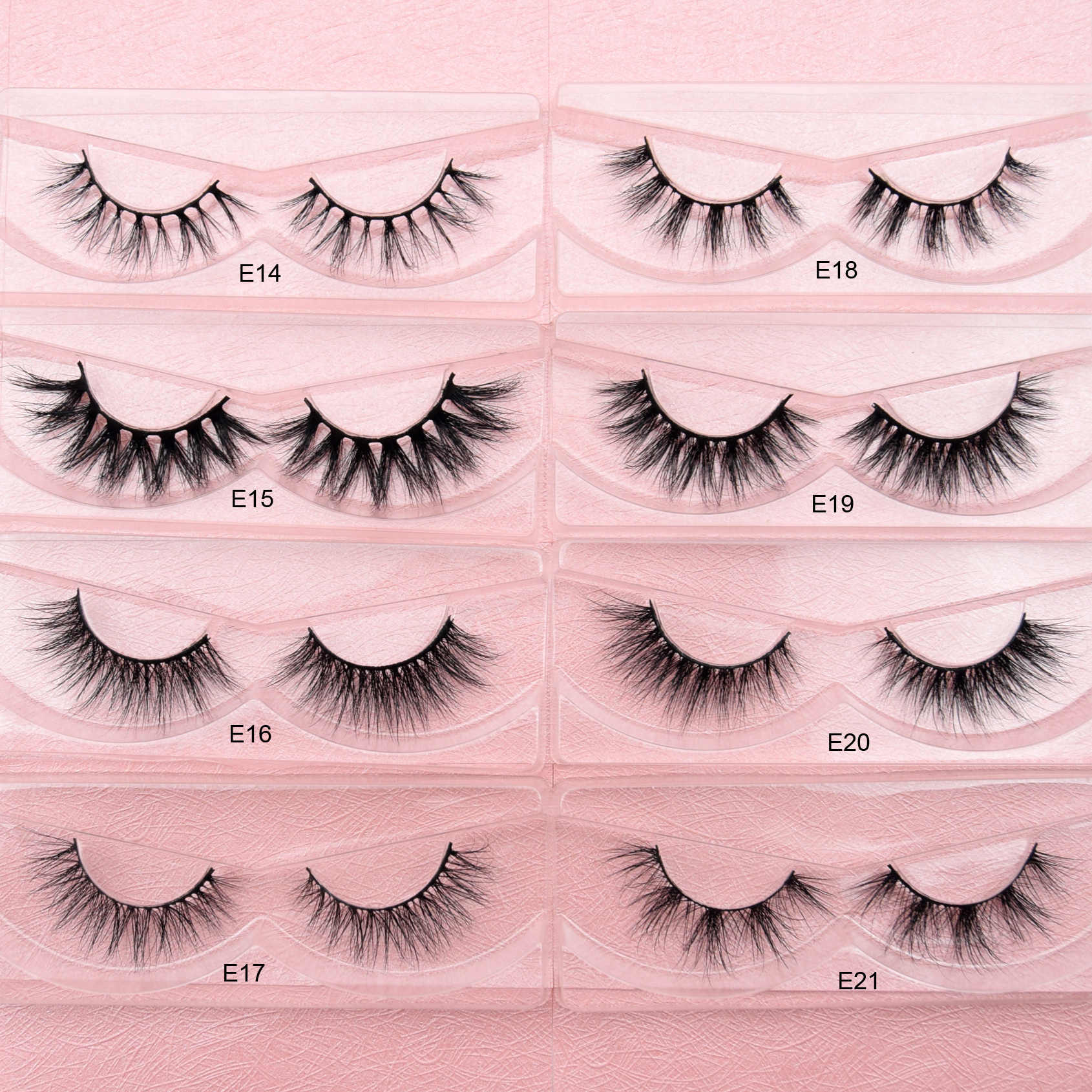 Накладные ресницы Visofree, Длинные Накладные ресницы для макияжа, 3D норковые ресницы для наращивания, норковые ресницы для красоты E11