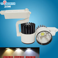 high quality 20w led cob track light rail light spotlight ac 110v 220v 240v led bulb warm white/cold white led light