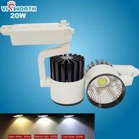 high quality 20w led cob track light rail light spotlight ac 110v 220v 240v led bulb warm white/cold white led light