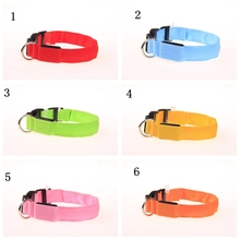 USB Rechargeable LED Dog Collar Flashing In Dark Nylon 3 Mode  Lighting Safety Dogs Luminous Fluorescent Collars Pet Supplies