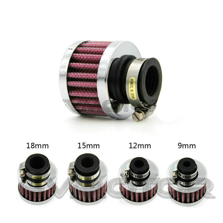 mini universal small caliber 9MM 12MM 15M 18MM motocross parts motorcycle air cleaner for harley air filter moto filters cleaner