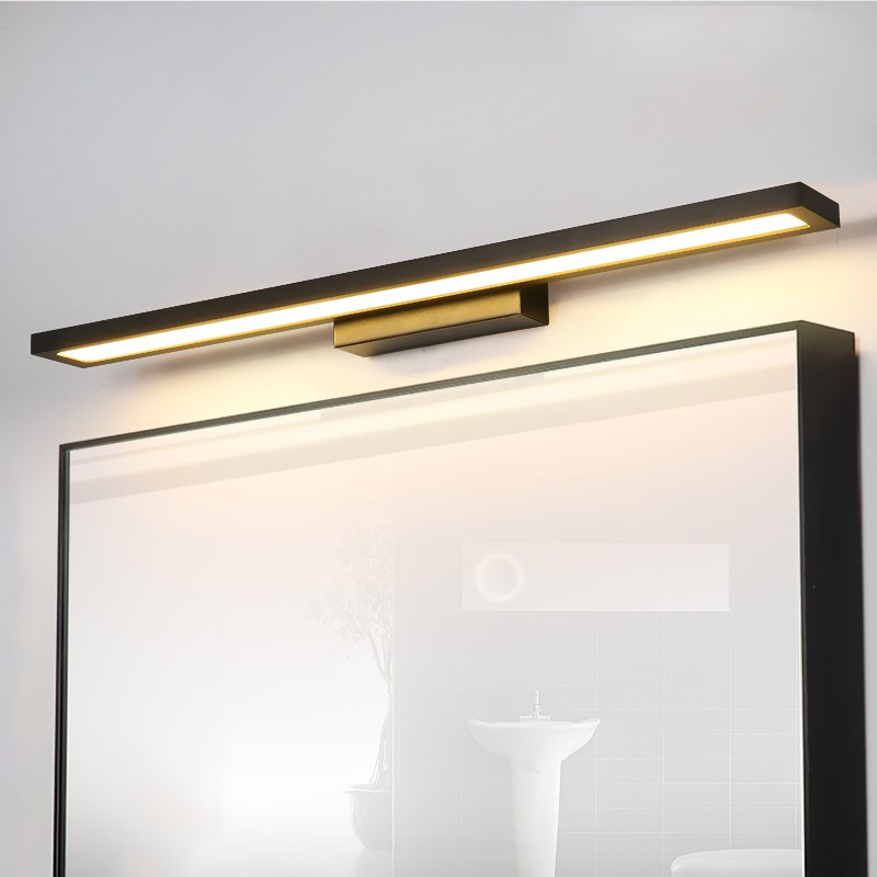 все цены на led mirror light Hand wash bathroom desk simple modern Nordic bathroom dressing table makeup mirror wall lamp