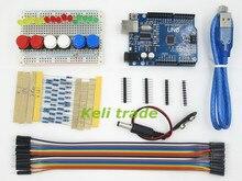 Новый Starter Kit ООН R3 мини Макет LED перемычка кнопка для Arduino compatile ГОРЯЧИЕ