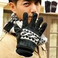 Inverno homens de couro da motocicleta luvas de condução preto biker dedo cheio luva quente respirável ciclismo luvas de corrida de moto