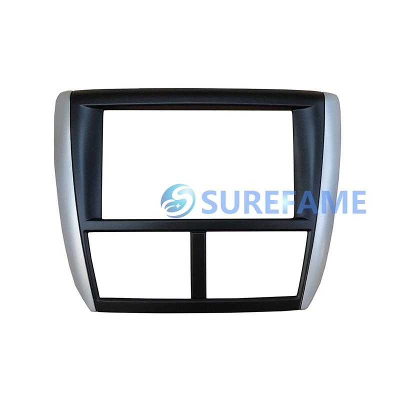 Double Din Car Radio Fascia for Subaru Forester Impreza WRX 2008 Dash Kit Install Facia Plate