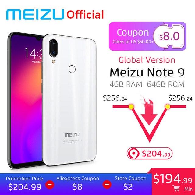 Pre-Sale Global Version Meizu Note 9 4GB 64GB Mobile Phone Snapdragon 675 Octa Core 6.2 inch 48MP + 5MP Rear Camera Fingerprint