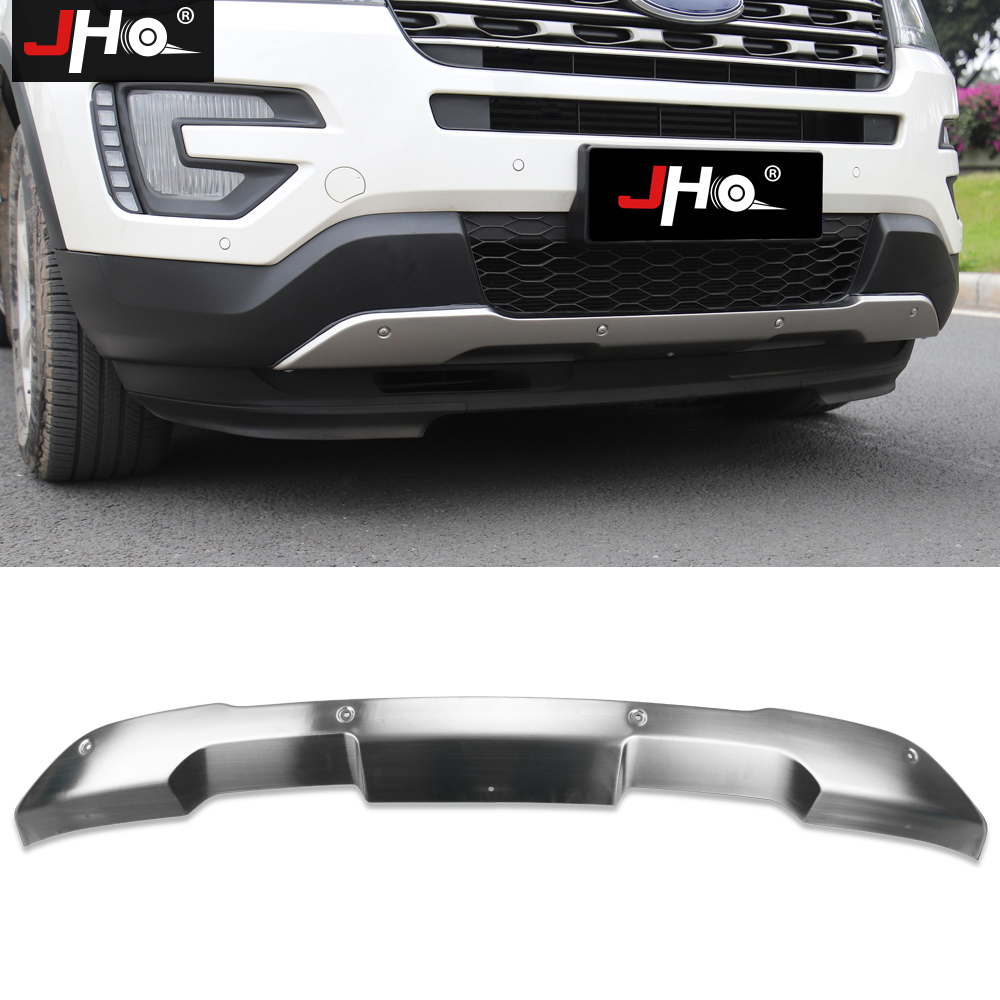 JHO Stainless Steel Front Rear Bumper Guard Protector Cover For 2 3L Turbocharged Ford Explorer 2016
