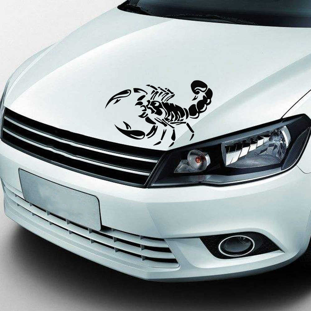 1 pcs fashion 3d big scorpion reflective personalized car styling bumper stickers vinyl decal sticker scratch