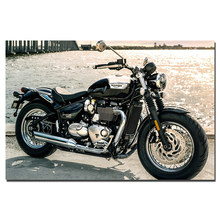 47f238f083 Triumph Classic Motorbike Canvas Painting Decoration Poster and Prints Wall  Art Pictures For Living Room B26