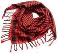 Bufandas cuadradas de envoltura de Color círculo de la borla de la bufanda de la cachemira de Pashmina bufanda a cuadros negro inglaterra mujeres rojo verde blanco amarillo 4 Color