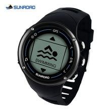 Sunroad GPS smart men digital watch running sport swim heart
