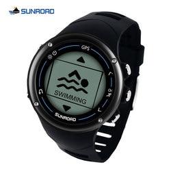 Sunroad GPS smart men digital watch running sport swim heart rate marathon triathlon training compass waterproof watch