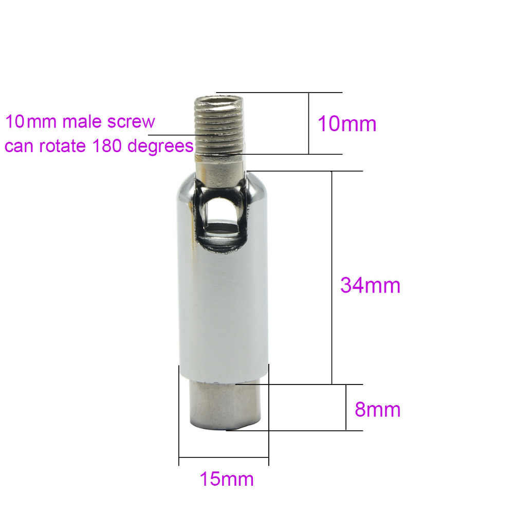 20 штук m10 Универсальная головка 180 градусов вращения Болты 10 мм мужской/женский зуб трубки для коридора/крыльцо/ бар люстра Цоколи